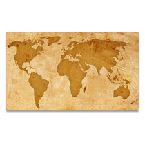 Rustic Pattern Map Art Print