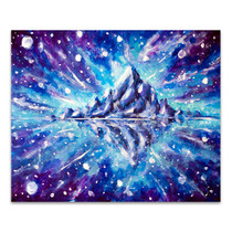 Space Landscape Canvas Art Print