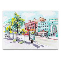 Watercolor Cityscape Art Print