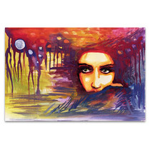 Staring Woman Canvas Art Print