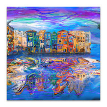 Windy City Reflects Art Print