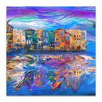 Windy City Reflects Art Print