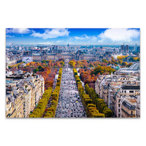 Champs-Elysees Cityscape Art Print