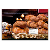 Croissant in Paris Art Print