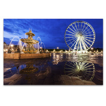 Ferris Wheel on Place de la Concorde Art Print