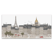Hand Drawn Paris City Skyline Art Print