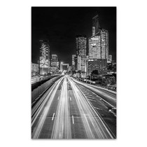 La Defense Financial District at Night Art Print