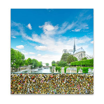 Love Locks in Notre Dame Art Print