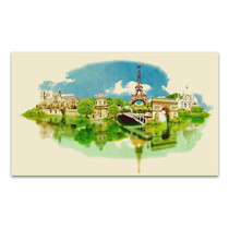 Panoramic View Watercolor Art Print