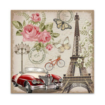 Paris Retro Canvas Art Print