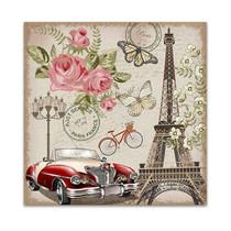 Paris Retro Canvas Art Print