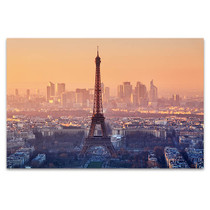 Romantic Sunset View of Paris Art Print
