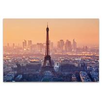 Romantic Sunset View of Paris Art Print