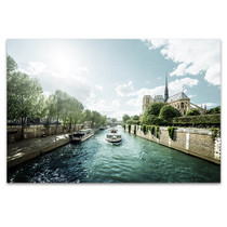 Seine and Notre Dame de Paris Art Print