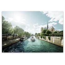 Seine and Notre Dame de Paris Art Print