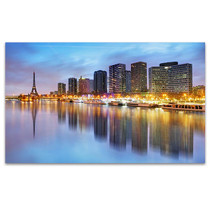 Skyline View of Paris in Twilight Art Print