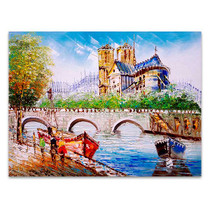 Street View of Paris in Wall Art Print