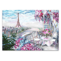 Summer Cafe in Paris Art Print