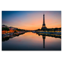 Sun Rises in Paris Art Print