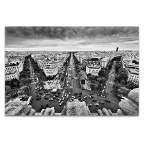 View from Arc de Triomphe Art Print