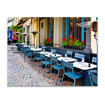 Vintage Restaurants in France Art Print