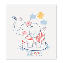 Sailor Elephant Wall Art Print