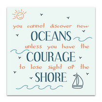 Oceans Courage Shore Art Print