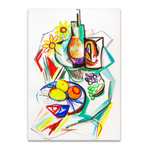Fruits Cubism Wall Art Print