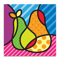 Sweet Pear Cubism Art Print