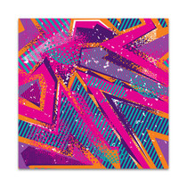 Abstract Girlish Graffiti Art Print