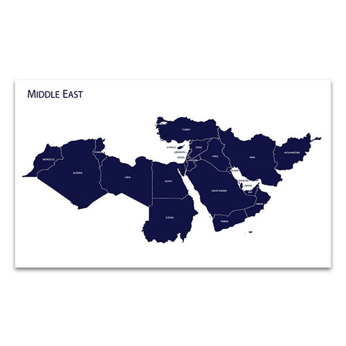 Map Of Middle East Art Print
