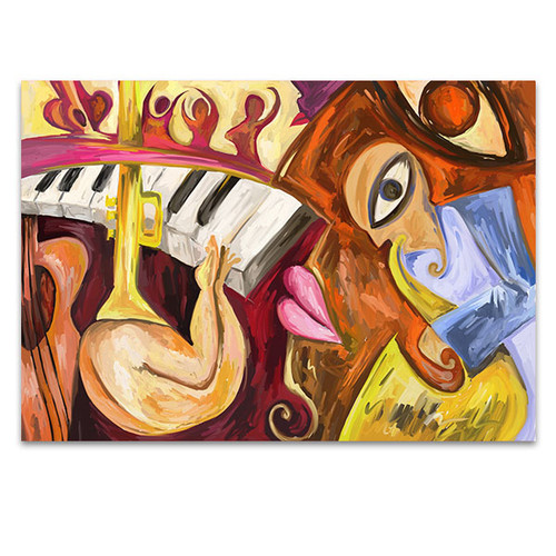 Abstract Jazz Music Wall Print