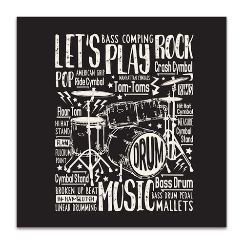 Drums Typography Art Print
