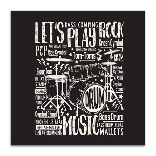 Drums Typography Art Print