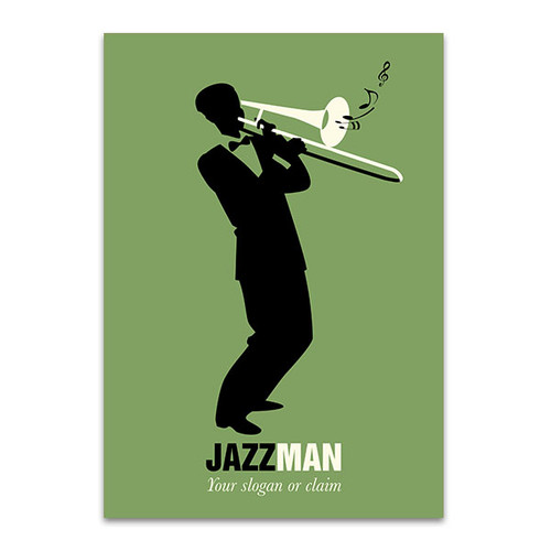 Trombone Player Wall Art Print