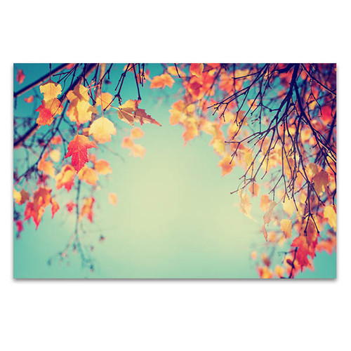 Autumn Leaves In Vintage Art Print