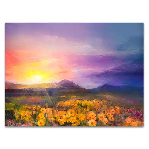 Golden Daisy Wall Art Print