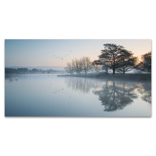 Lake In Mist Wall Art Print