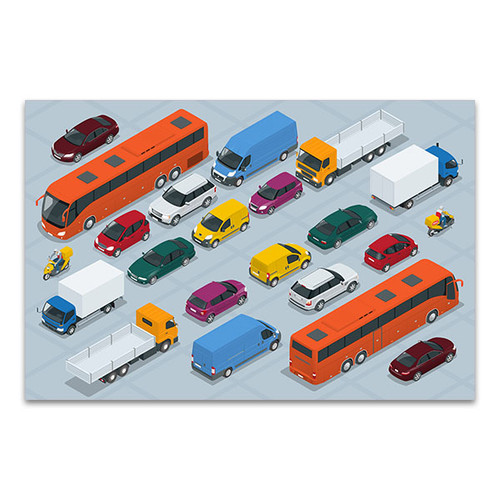 Car Icons Canvas Art Print