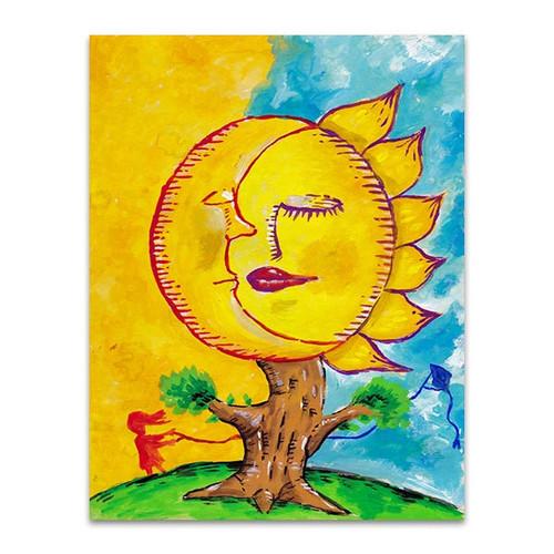 Sleeping Moon And Sun Art Print