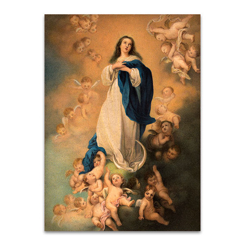 Virgin Mary With Angels Art Print