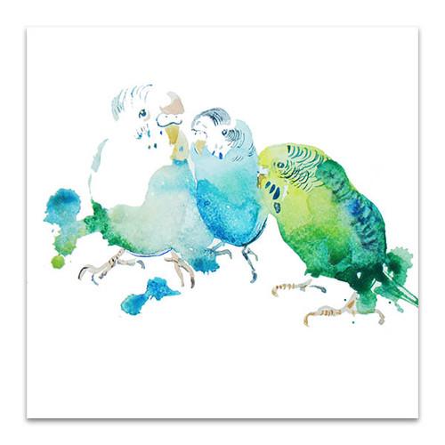 Birds In Watercolour Canvas Print