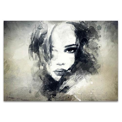 Woman Profile Wall Print