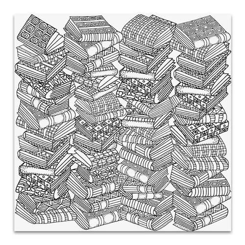 Artistic Books Canvas Art Print