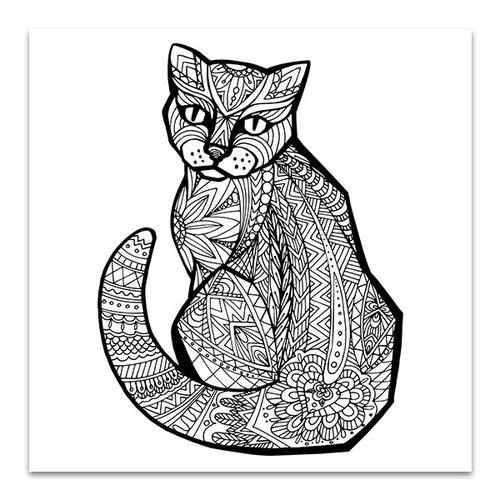 Doodle Cat Wall Print