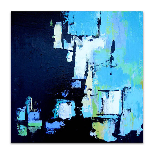 Brooke Howie   Black and Aqua Abstract