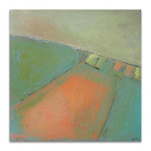 Brooke Howie | Coral and Green Landscape
