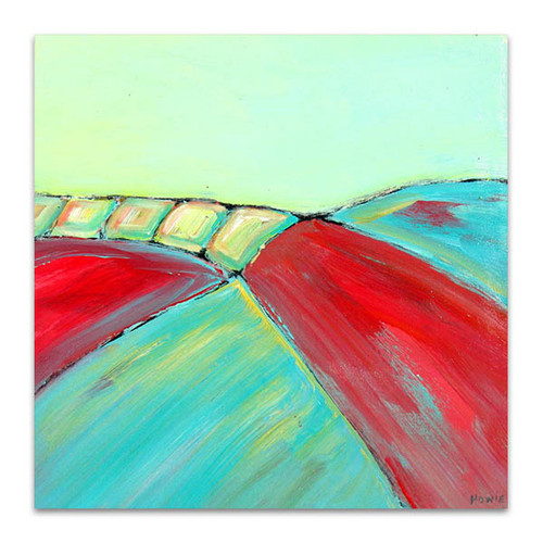 Brooke Howie   Red and Turquoise Abstract Landscape