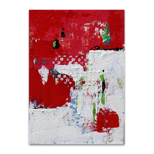 Brooke Howie | Red and White Abstract