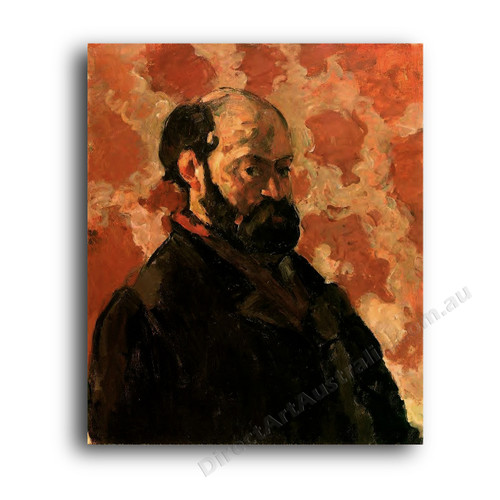 Self-Portrait with Rose Background